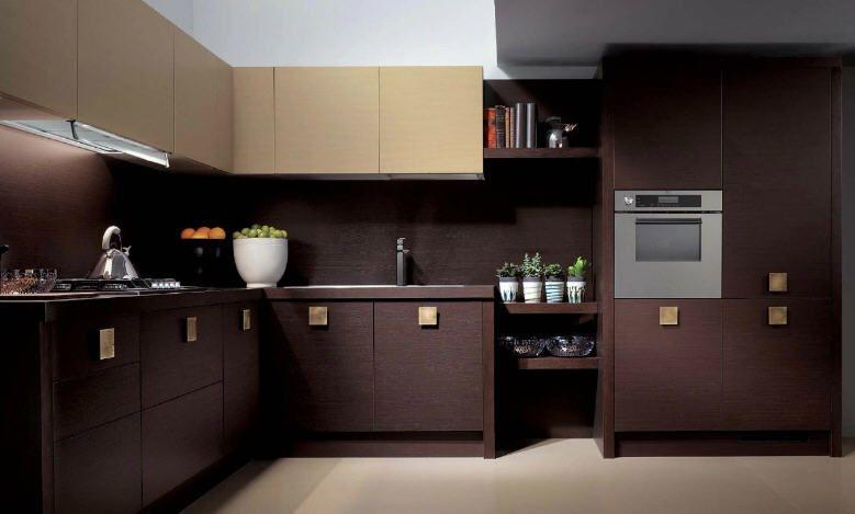 The Blog Brown And Cream Modular Kitchen By Scavolini Kitchen Colour Combination Colorful Kitchen Decor Brown Kitchen Designs