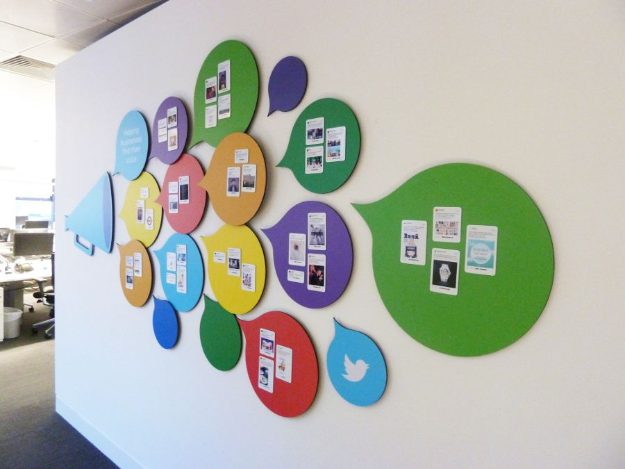 Custom Shaped Whiteboards Office Wall
