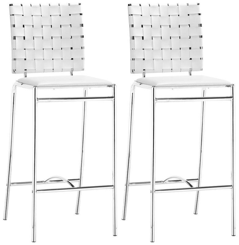 Super Zuo Criss Cross Chrome With White Armless Counter Stool Inzonedesignstudio Interior Chair Design Inzonedesignstudiocom