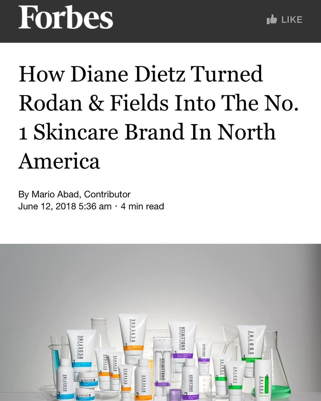 Great Article With Our Ceo Diane Dietz On How She Helped Turn R F Into The Number One Skincare Brand In North Americ Forbes Life Changing Opportunity Skin Care