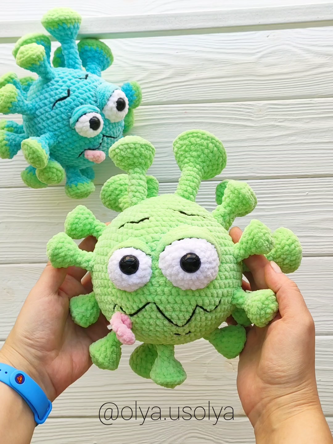 CROCHET PATTERN | Macaroni-virus | PDF ENGLISH | Plush stuffeed toy | amigurumi toy | crochet virus