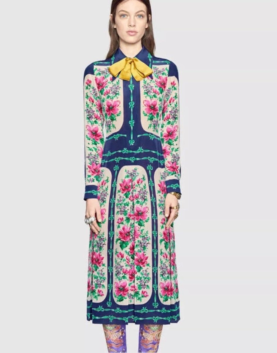 d623925a1210 Details about Gucci Rose Silk Dress- With Tags- RRP$5,400 in 2019 ...