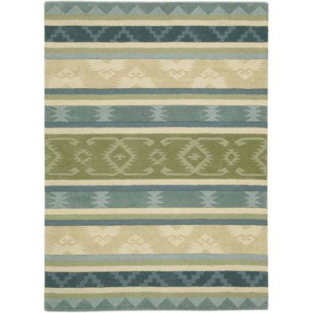 Nourison India House Collection Area Rug Blue Green 36 Inch X