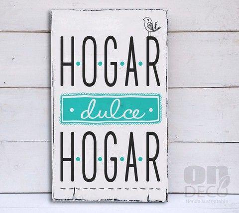 Cartel Vintage Hogar Dulce Hogar Pajarito Comprar Online