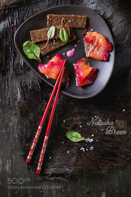 Salted Salmon by NatashaBreen  IFTTT 500px ceramic above antipasti appetizer asian background beet beetroot bread canape chop cho