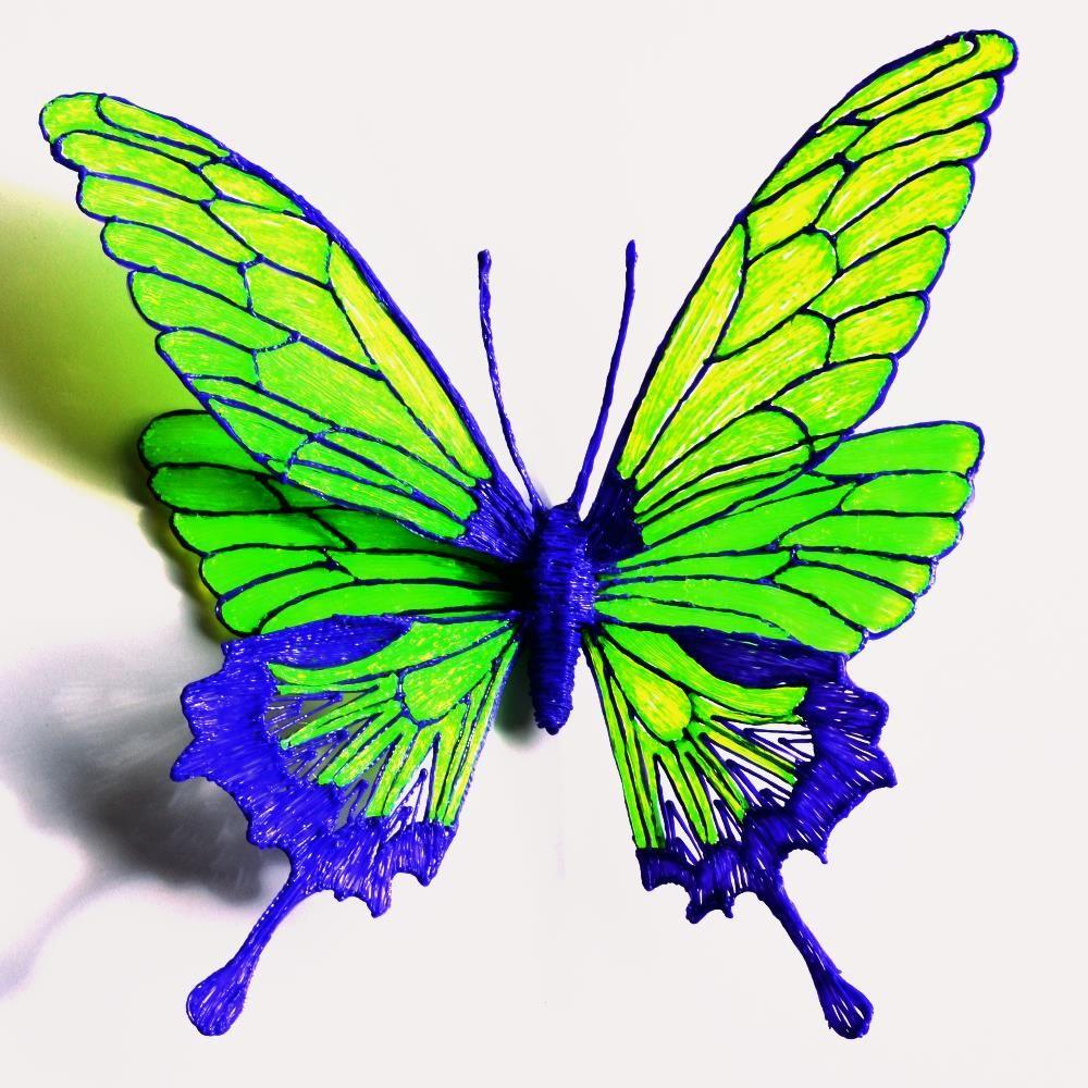 Dessiner un papillon au stylo 3d par maypop studio 3d - Dessiner un papillon ...