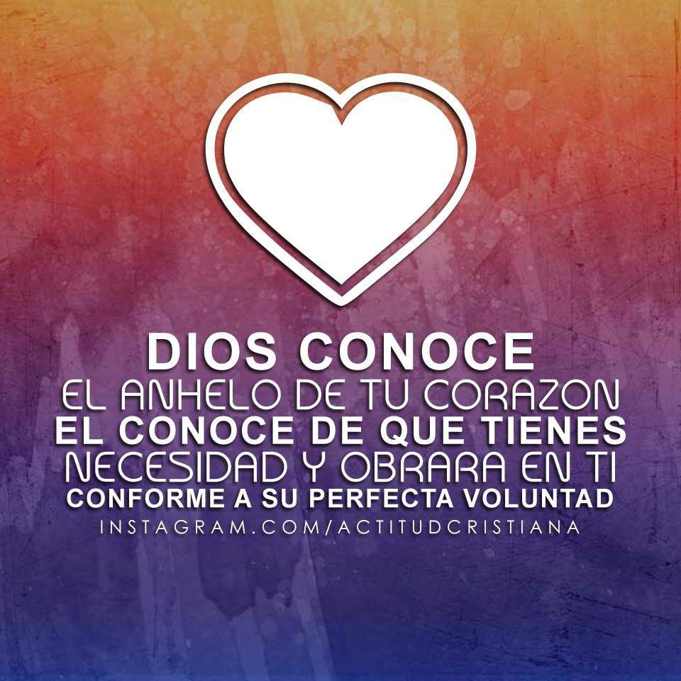 Dios conoce tu corazón   Dios es AMOR!♡   Pinterest   Conocer ...