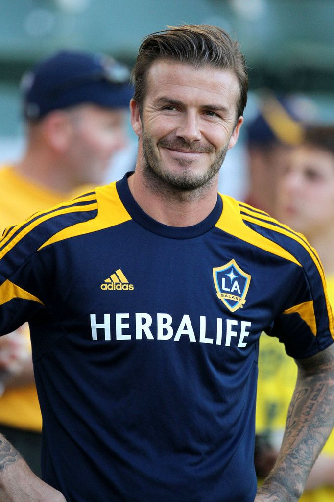 David Beckham Photos Photos Russell Brand Watches David Beckham Play For The La Galaxy Against The Seattle Sounders In Los Angeles David Beckham Photos David Beckham La Galaxy David Beckham Soccer
