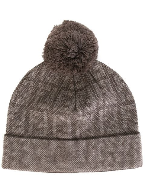 da9c944c116 FENDI knitted monogram beanie.  fendi  双f标志针织套头衫 Monogram Hats