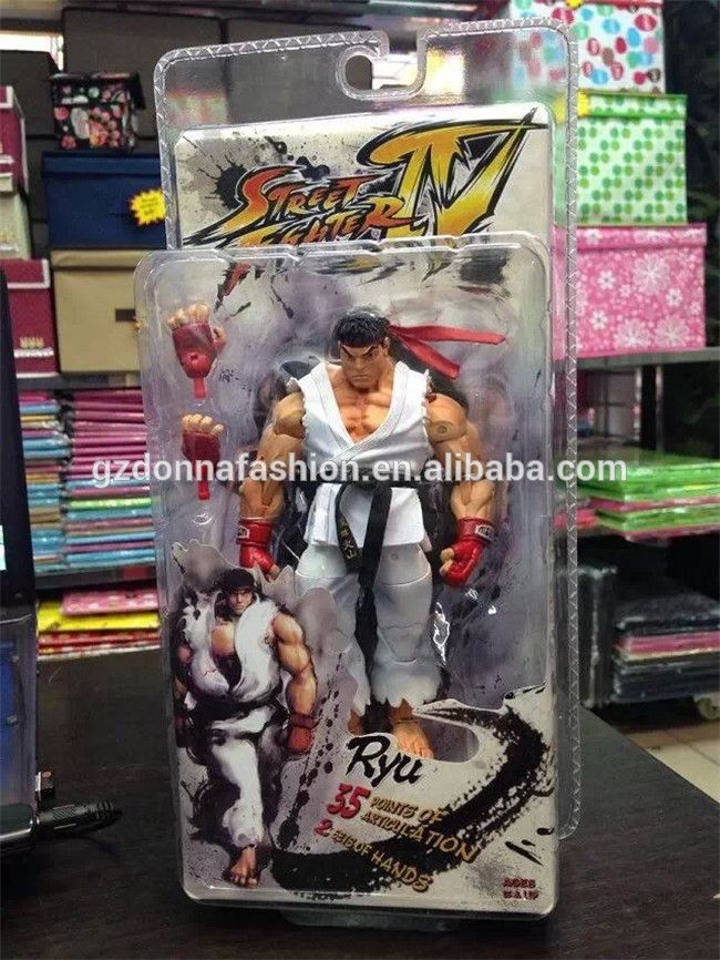"NECA Street Fighter Ken Ryu Guile 7/"" Action Figure Player Select Game Survival"