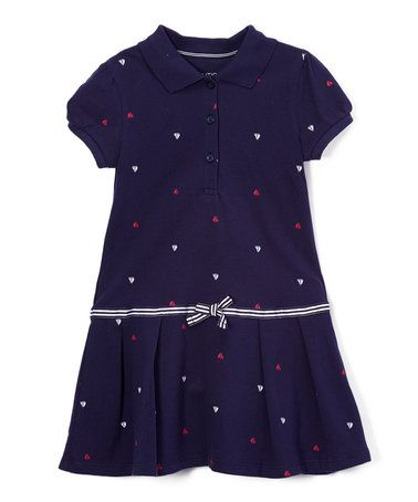Love this Navy Pleated Drop-Waist Dress - Infant & Toddler on #zulily! #zulilyfinds