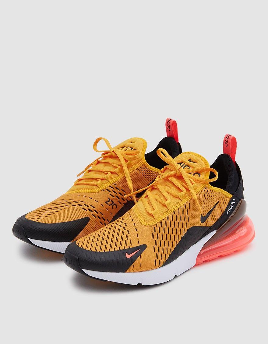 20c36038fa7 Nike   Air Max 270 Sneaker in Black University Gold-Hot P