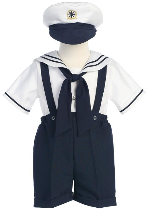 3c39a68c4196 Toddler Boys Sailor Suit with Suspenders - Boys Sailor Outfit by ...
