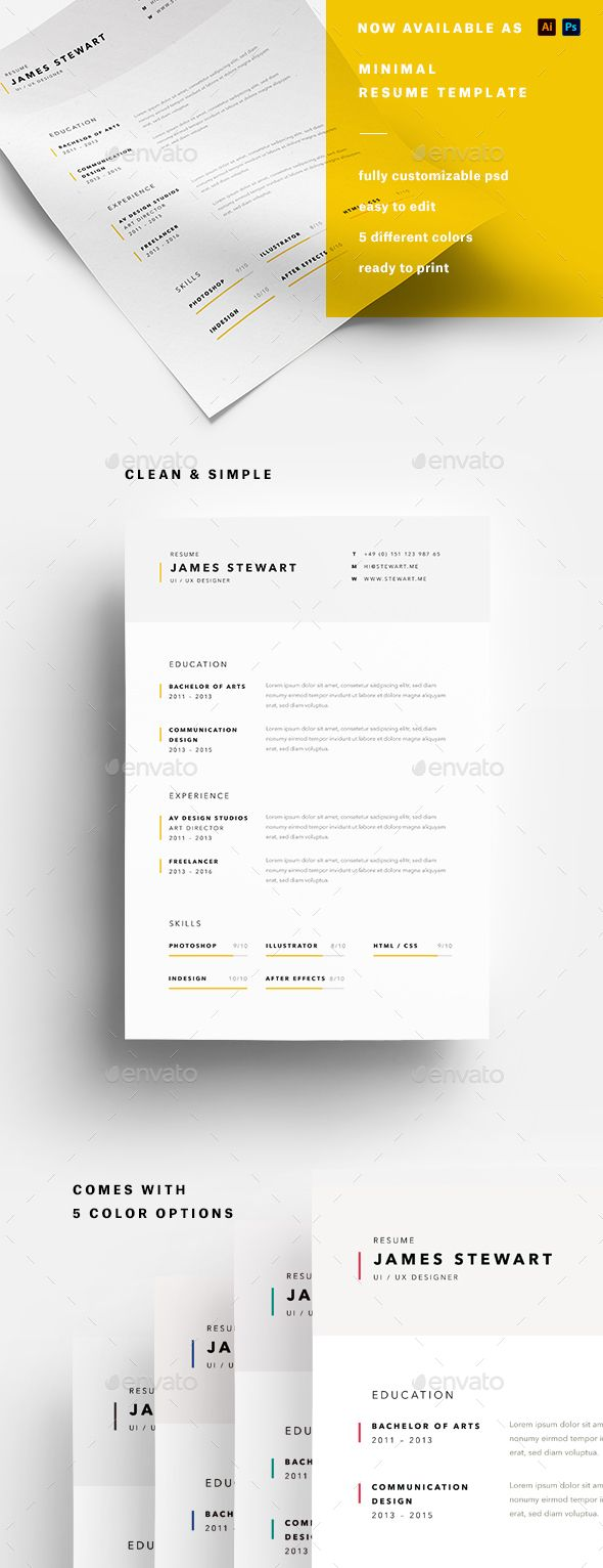 Minimalist Resume Template A4 Minimalist Resume  Pinterest  A4 Minimalist And Fonts