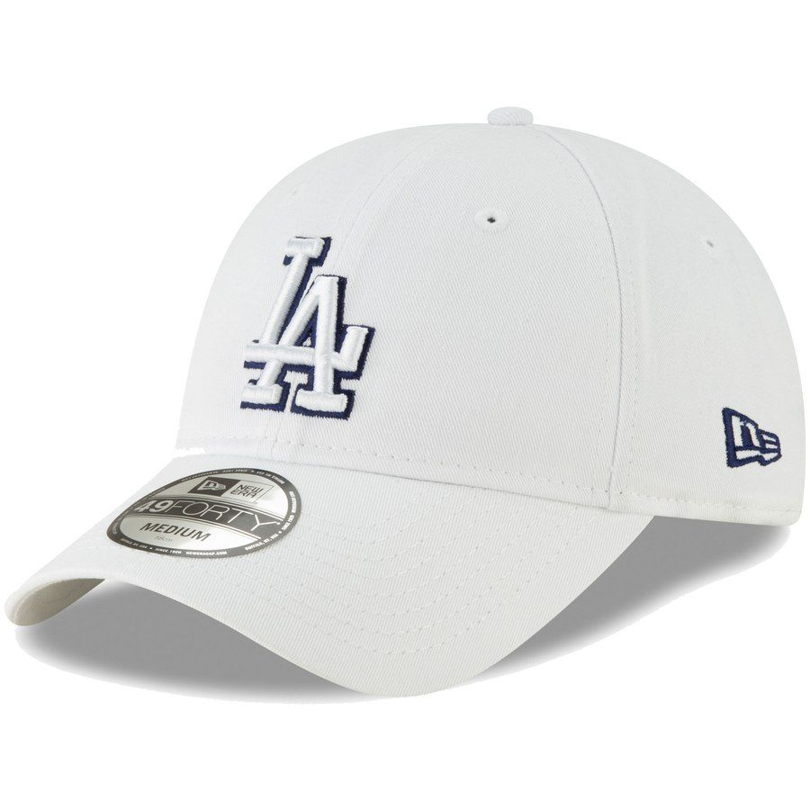 d5b7d600d8098e Men's Los Angeles Dodgers New Era White Core Pop 49FORTY Fitted Hat, Your  Price: $27.99