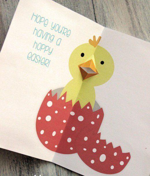 37 Diy Ideas For Making Pop Up Cards Diy Pop Up Cards Pop Up Greeting Cards Kids Easter Cards