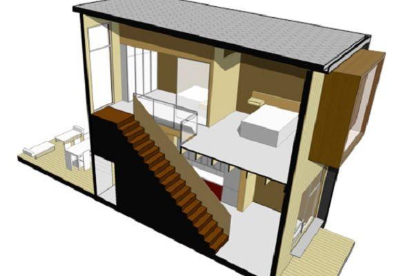 planos de casas pequenas en dos plantas