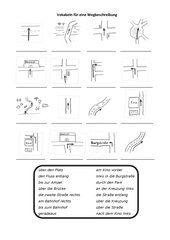 vokabeln f r eine wegbeschreibung schule wegbeschreibung deutsch unterricht und deutsch lernen. Black Bedroom Furniture Sets. Home Design Ideas