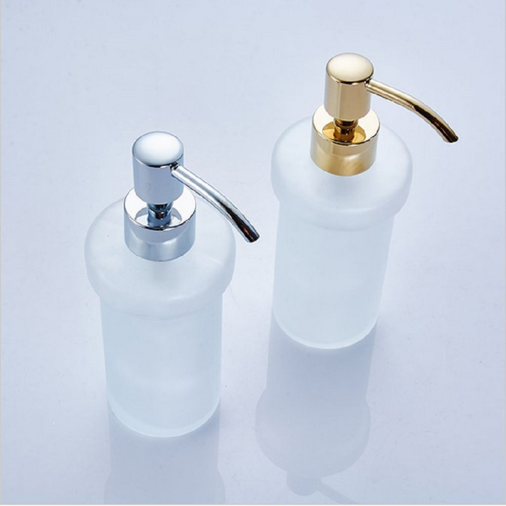 Europe Brass Crystal Liquid Soap Dispenser Antique Frosted Glass