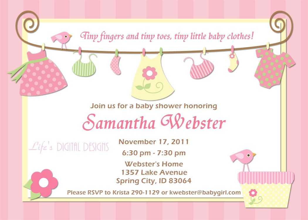17 Best images about Magnificent Girl Baby Shower Invitations ...
