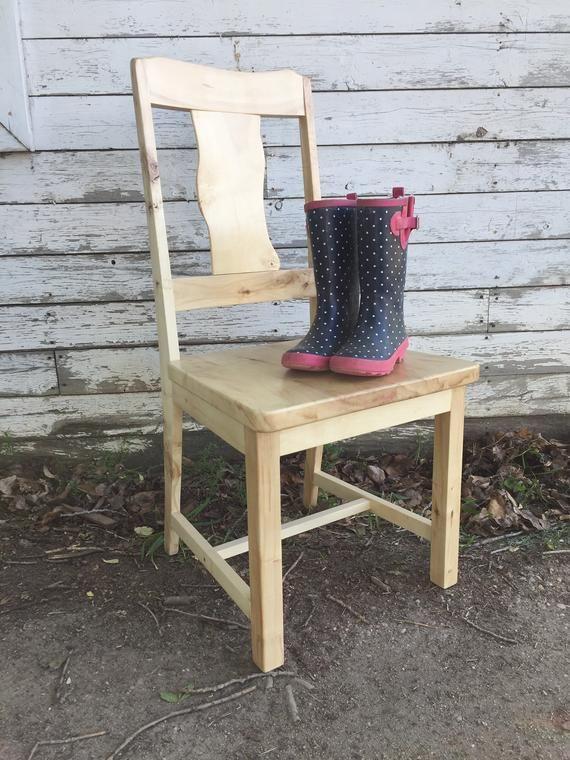 Dining Chair Kitchen Chair Wood Chair Farmhouse Chair Live Edge