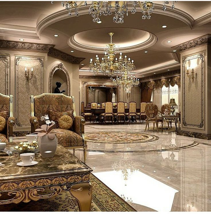 Luxury House Interior Living Room: Regal Luxury Mansion Interior Design