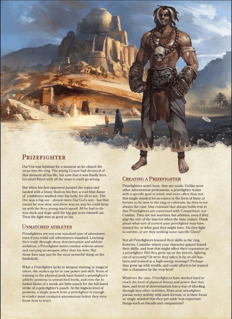 Prizefighter by Clockwork Dragon (Homebrew D&D 5e Class