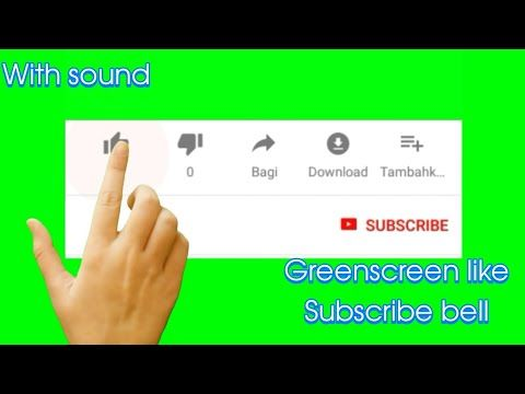 Mobile Touch Like Subscribe Bell Greenscreen With Sound Youtube Greenscreen First Youtube Video Ideas Youtube Video Ads