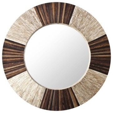 Target Wall Mirror brown/natural wall mirror - contemporary - mirrors - target | home