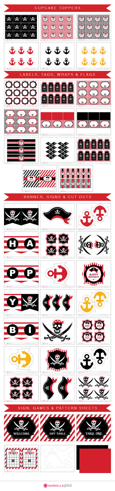 Pirate Themed Birthday Party with FREE Printables | Themed ...