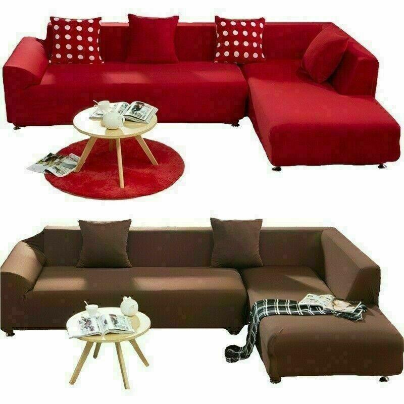 1 2 3 4 Seater Slipcover L Shaped Recliner Plain Cushion Protectors Sofa Cover Sofa Slipcover Ide Slipcovered Sofa Patterned Furniture Furniture Slipcovers