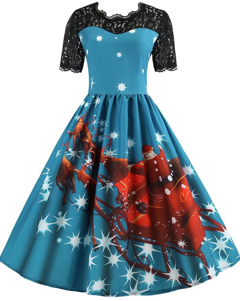 d743d8a88d668 Size:S,M,L,XL,XXL Material:Polyester + spandex Silhouette:a line Dress  length:short Sleeve length: long sleeve Neckline:o neck Pattern type:Floral  Print ...