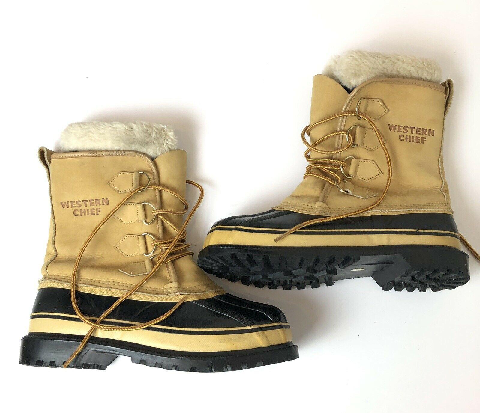 6feeaef19 Western Chief Duck Boots Mens Size 9 Thermolite Leather Weatherproof Steel  Shank | eBay