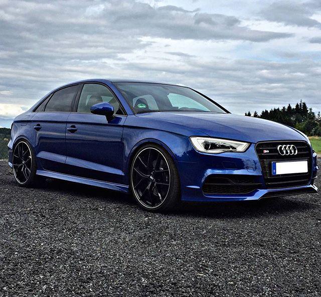 Sepang Blue Black Optics Perfection By Bailando 86 Car 2015 Audi S3 Sedan Hp 2 0l Tfsi 300hp 0 62m Carros Carros Customizados Carros Esportivos