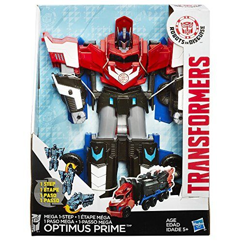 Transformers Robots in Disguise Mega Optimus Prime   Transformers Robots in Disguise Mega Optimus Prime The leader of the Autobots is back, and he's fiercer than ever! This Optimus Prime changer still fights the Decepticons every time he can, but he converts so fast they'll never be able to keep up. Convert him from mighty robot mode to semi truck mode in just 3 steps, then convert him back again when the battle calls for it! You can unlock Mega Optimus Prime character in the Transfo..