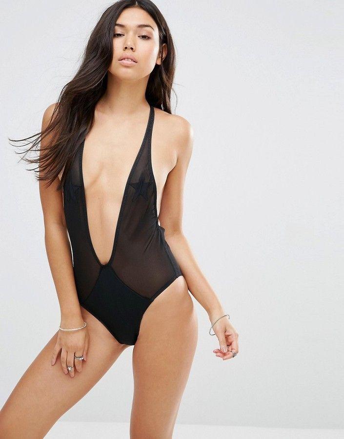 Motel Mesh Star Plunge Suit In 2018 Models43 Pinterest Suits