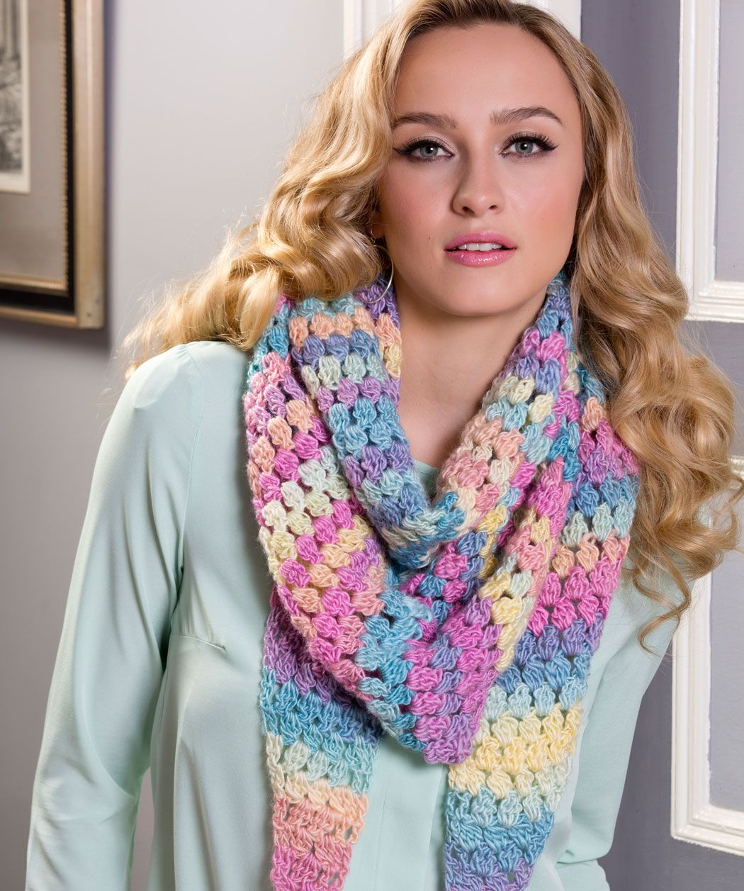 Cluster stitch wrap free crochet pattern from red heart yarns cluster stitch wrap free crochet pattern from red heart yarns bankloansurffo Image collections