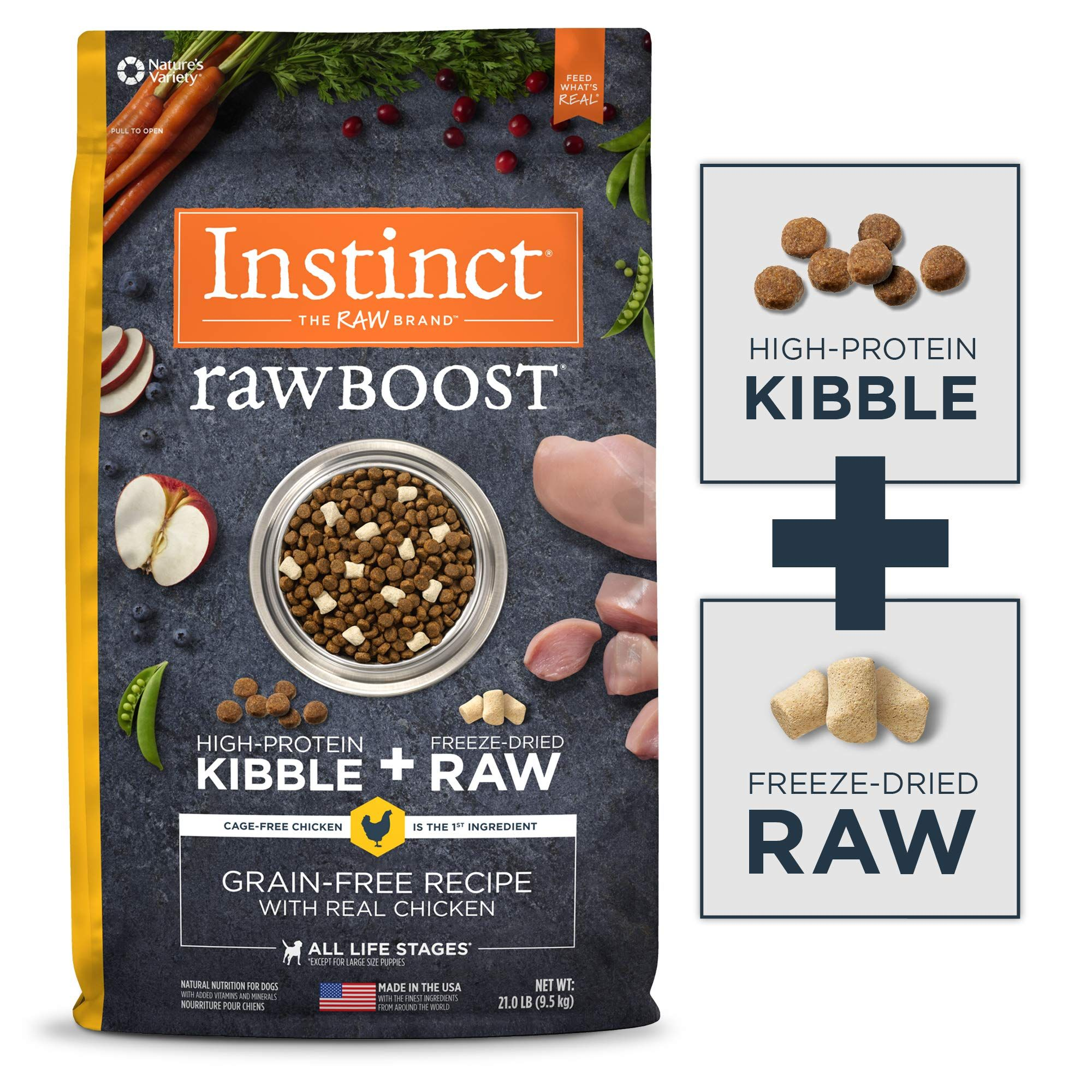 Instinct Raw Boost Grain Free Recipe Natural Dry Dog Food Dog