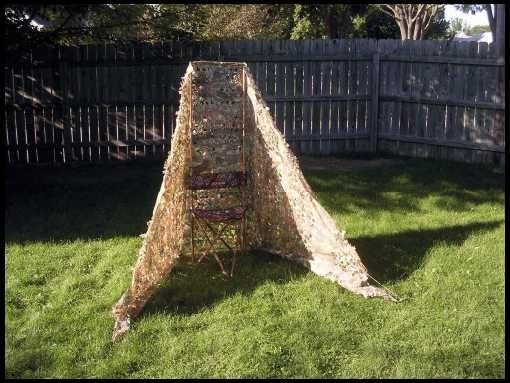 Image result for homemade ground blinds hunting hunting for Homemade hunting shack