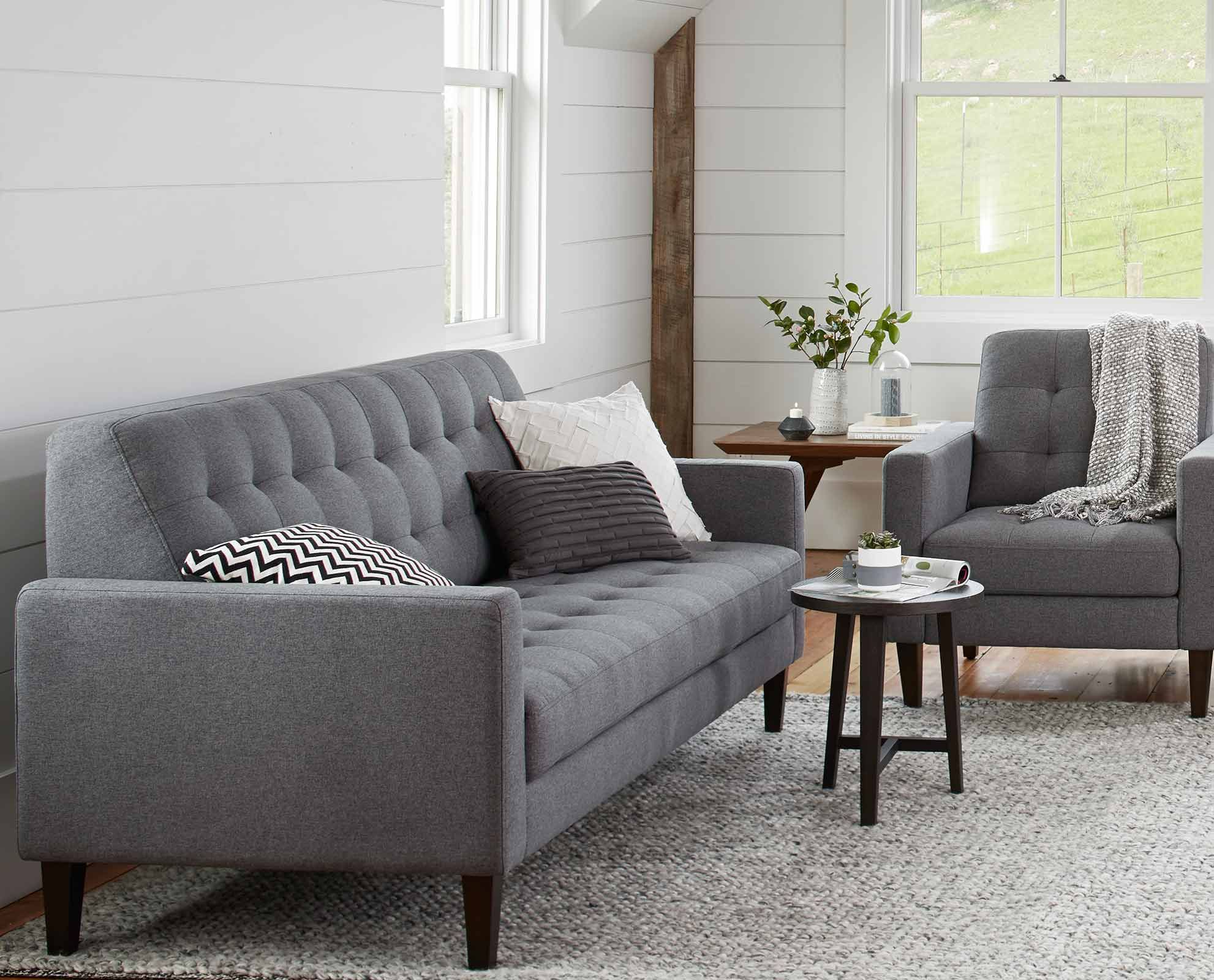 The Camilla Sofa And Accent Chair From Dania Furniture Co.   Enjoy The  Refined Comfort Of The Camilla Sofa, With A Perfectly Angled Backrest And  Long ...
