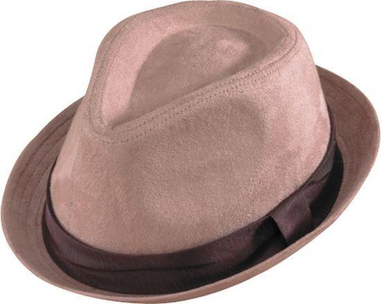 4529-69  Beige Suede Rolled Brim Fedora | Henschel Hats www.henschelhats.com