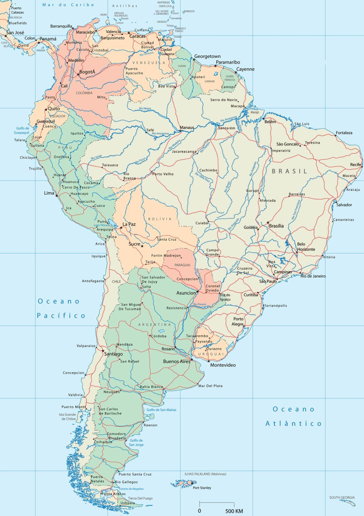 Mapa Políticoterritorial de América del Sur | mc v,m vnh,m x. mjgx m ...