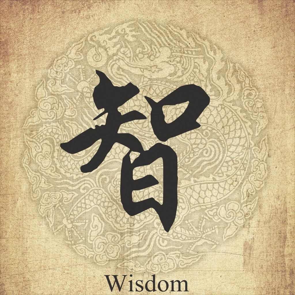 Wisdom In Chinese Character Chinese Pinterest Chinese