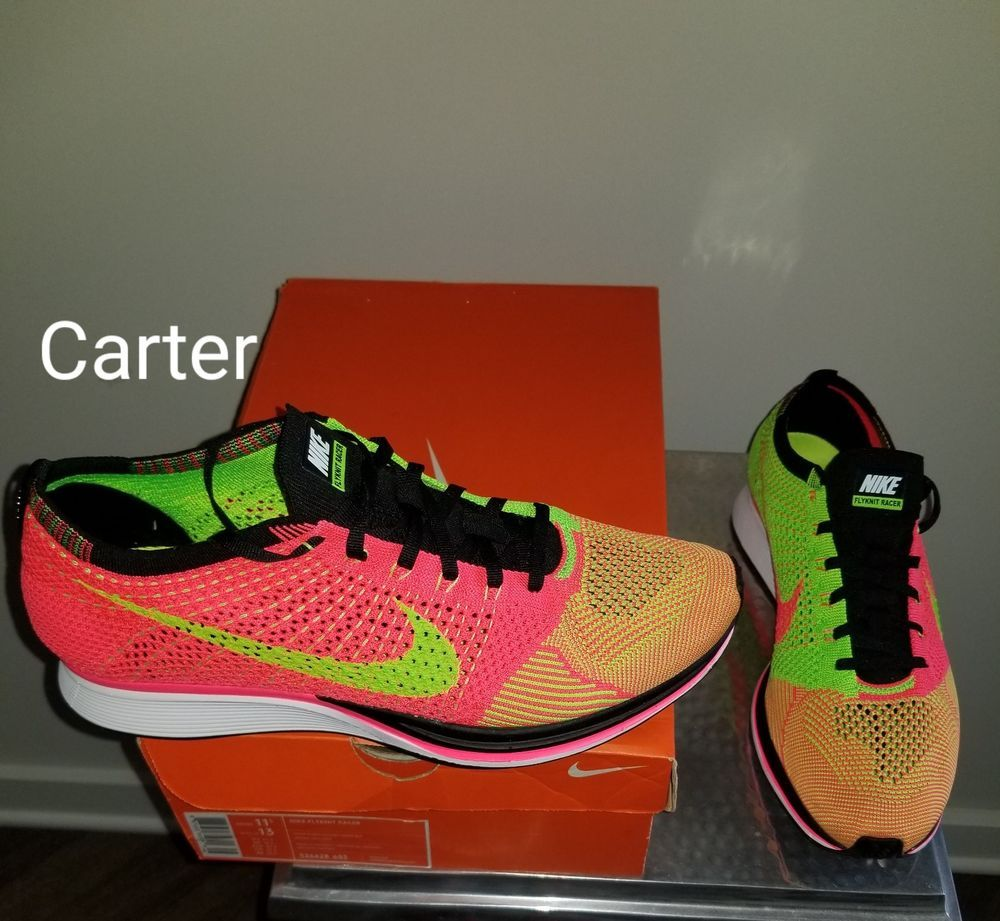 separation shoes f16cc f3128 Nike Flyknit Racer HYPER Punch Electric Green-Black 526628-603 Sz 11.5   fashion  clothing  shoes  accessories  mensshoes  athleticshoes (ebay link)
