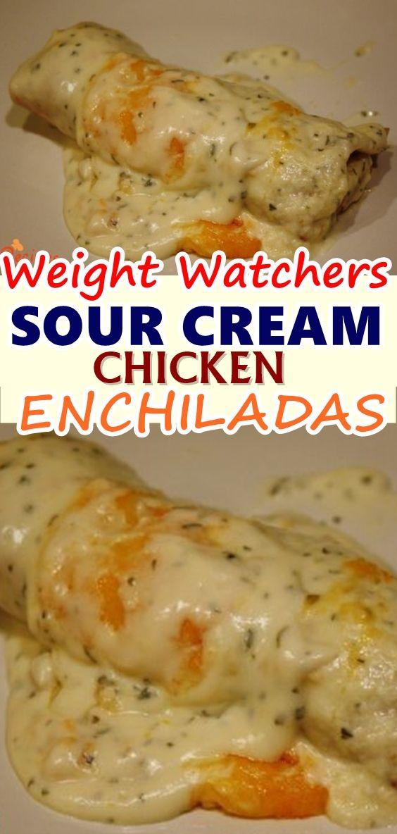 Sour Cream Chicken Enchiladas Sour Cream Chicken Enchilada Recipe Enchilada Recipes Sour Cream Chicken