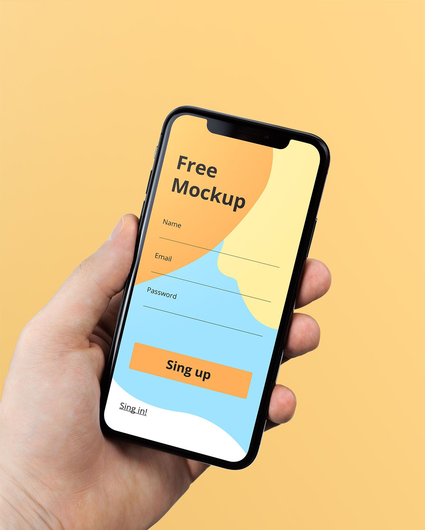 Download Iphone X In Hand Free Psd Mockup Midias Sociais Fontes Gratuitas Mockup