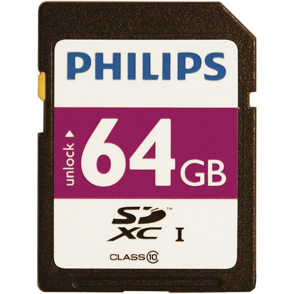 PHILIPS FM64SD55B27 64GB Class 10 SDXC(TM) Card 64gb