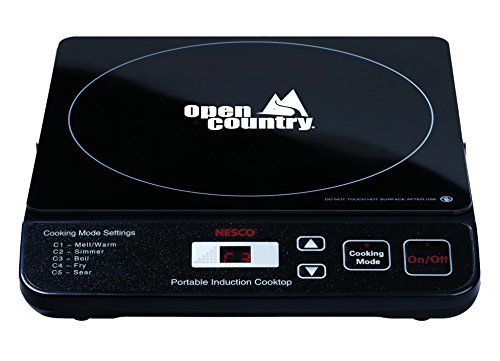The Open Country Induction Cooktop Has 5 Precision Heat Settings For Fast  Expert Cooking. With State Of The Art Induction Technology, This Single  Burner ...
