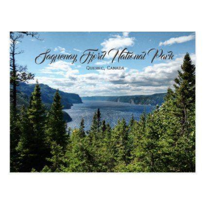 Saguenay Fjord Quebec Canada Postcard -nature diy customize sprecial design