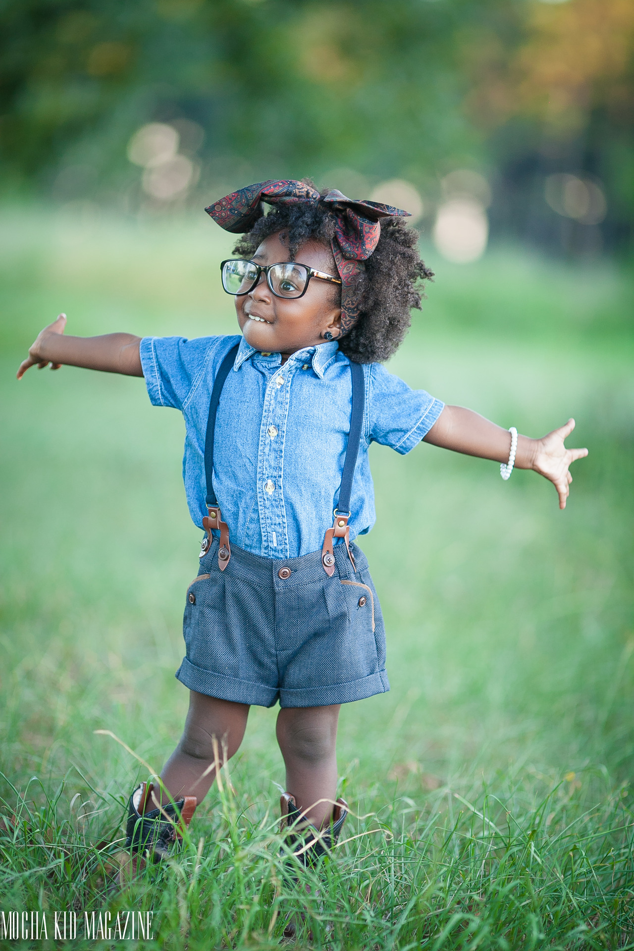 ...But really though: Dress shirts, sneakers, suspenders/overalls, bows.... that could be cute.
